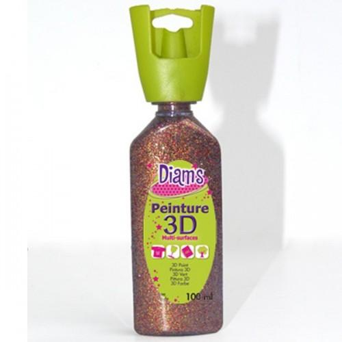 Peinture Diams 3D - Pailletee Grenat