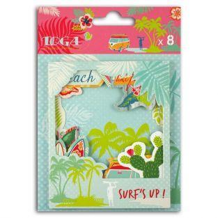 8 die-cuts Polaroid - Waikiki Beach