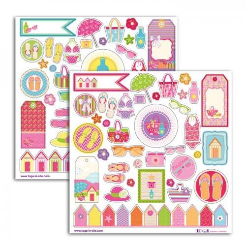 Stickers 15 x 15 cm - Beach girl