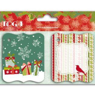 Etiquettes Noël vintage