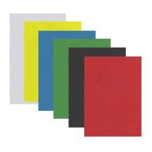 Hojas de goma x 6 - colores brillantes (1)