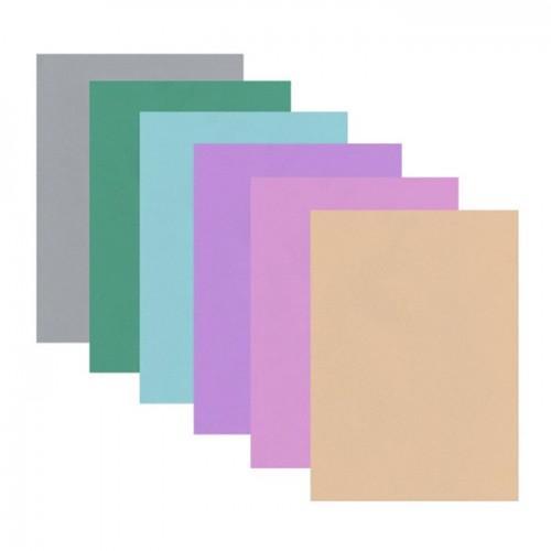 Hojas de goma x 6 - colores suaves
