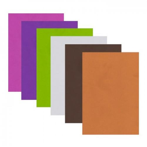 Hojas de goma x 6 - colores brillantes (2)