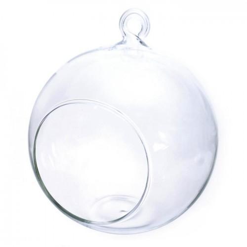 Boule verre ouverte 8 cm