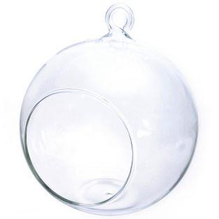 Boule verre ouverte 12 cm