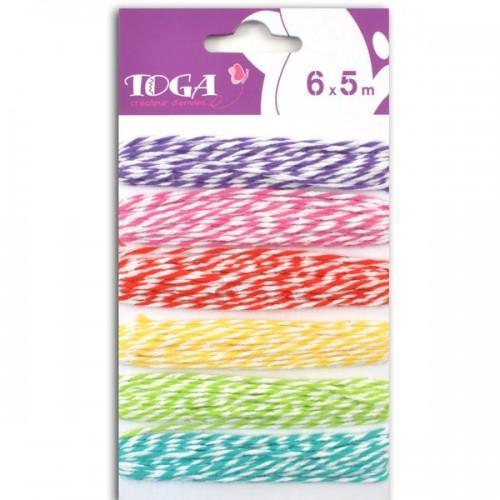 6 ficelles bicolores