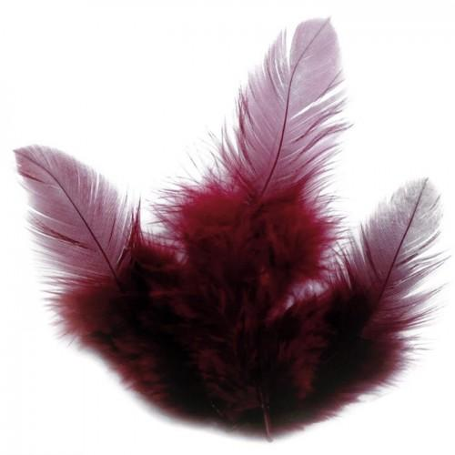Rooster feathers 10 cm - carmine red