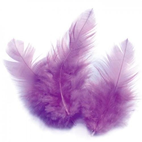 Rooster feathers 10 cm - purple