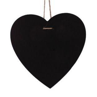 Ardoise cœur à suspendre - 23 x 23 cm