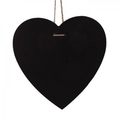 Pizarra corazón para colgar - 23 x 23 cm