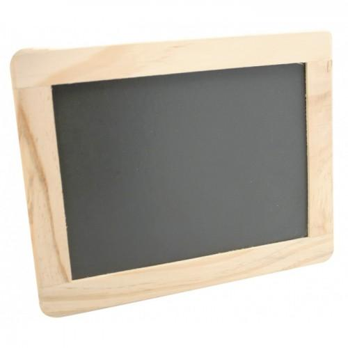 Ardoise 21,5 x 17 cm - Bordure bois