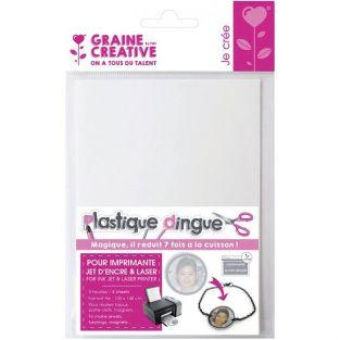 4 printable shrink plastic sheets A6