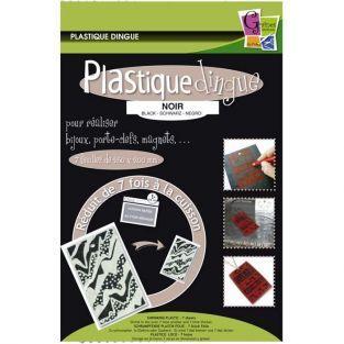 Plastique fou 7 feuilles 26,2 x 20,2 cm - Noir