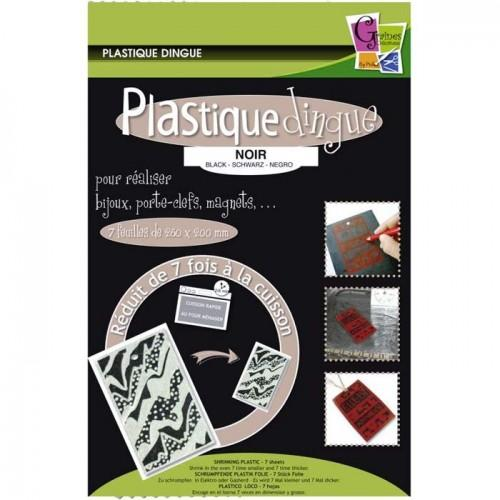 7 shrink plastic sheets 26.2 x 20.2 cm - Black