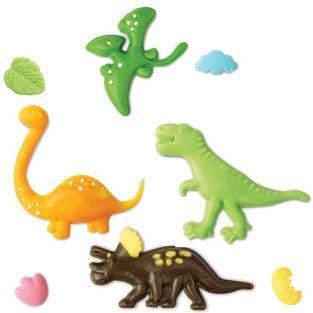 Moule pâte à sucre Dinosaures