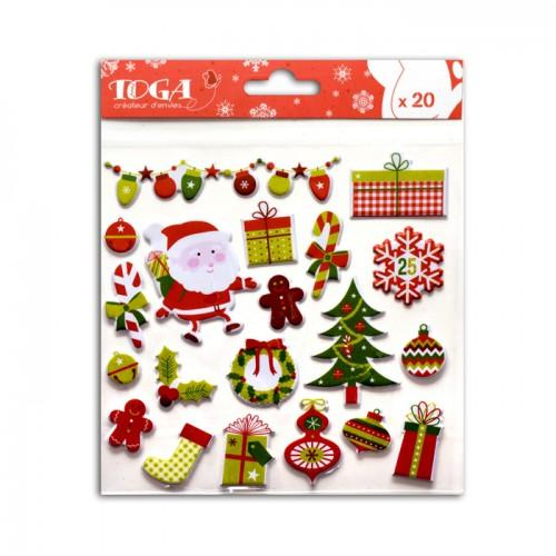 Traditional 3D Christmas Stickers