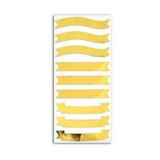 Stickers bannières dorées