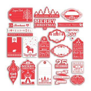40 scrapbooking shapes cut - Nordic Christmas