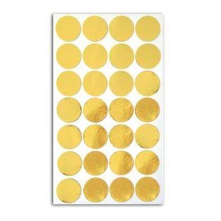 28 golden confetti stickers