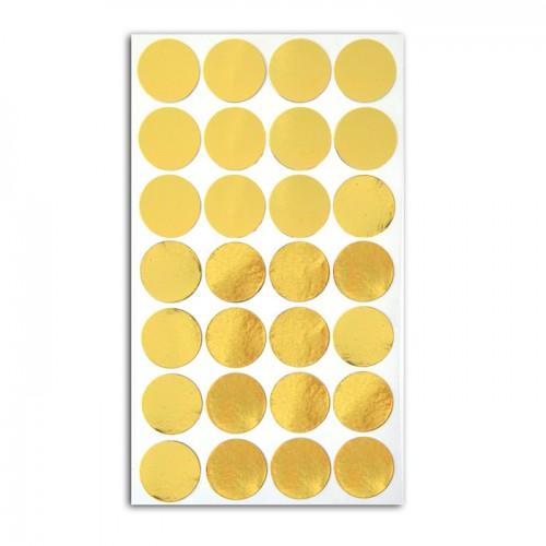 28 autocollants confettis dorés