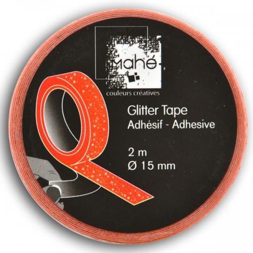 Masking Tape orange fluo à paillettes