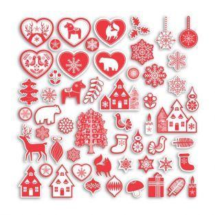 75 formas cortadas - Navidad nórdica