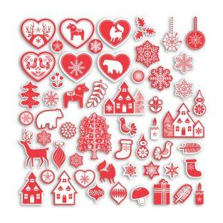 75 scrapbooking shapes cut - Nordic Christmas