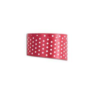 Red ribbon with white dots - 4 m