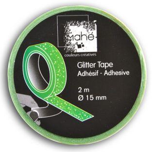 Masking Tape vert fluo à paillettes