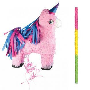 Unicorn piñata + stick