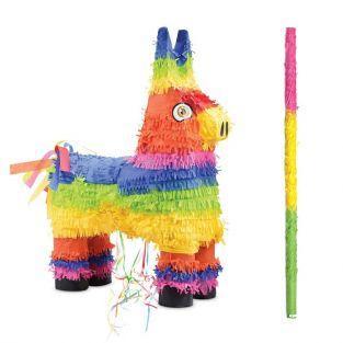 Piñata Âne + bâton