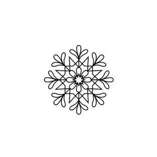Tampon bois - Flocon de Noël
