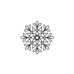 Wood stamp - Christmas Snowflake