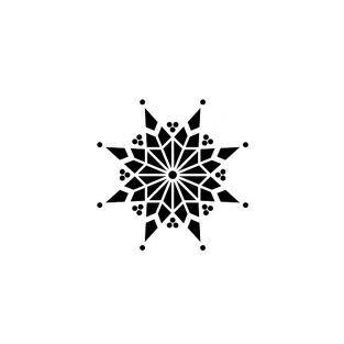 Sello de madera - Copo de nieve 8 ramas