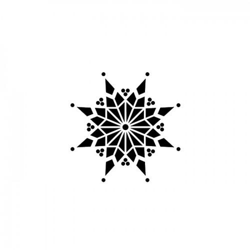 Wood stamp - Snowflake with 8 branches