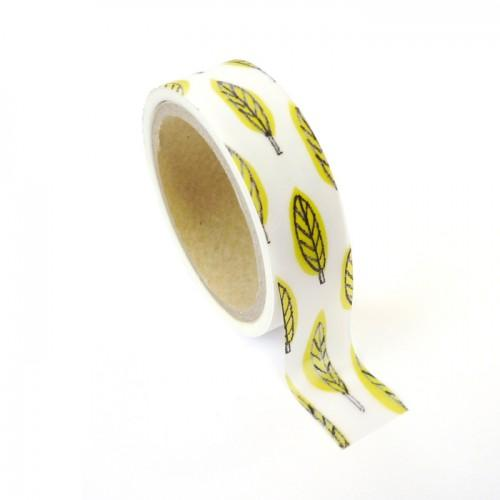 Masking tape metallized leaf 1.5 cm x 10 m