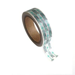 Masking tape con flechas 1,5 cm x 10 m