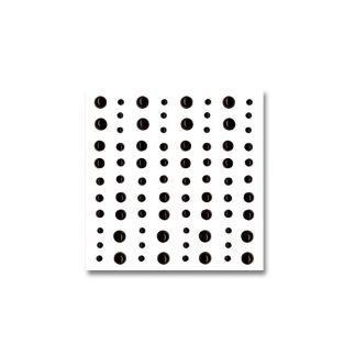 80 black adhesive beads