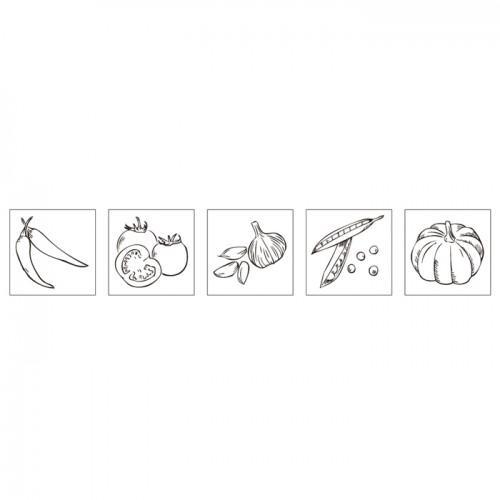 Kit mini-tampons bois - Jeunes légumes