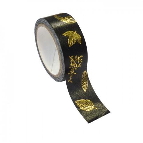 Masking tape hoja de metal dorada 1,5 cm x 10 m