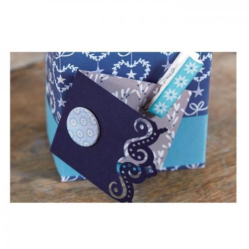6 pinzas de madera epoxi - Azul