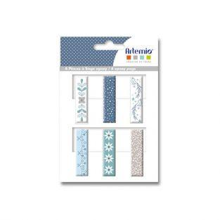 6 Epoxy clothespins - frosted