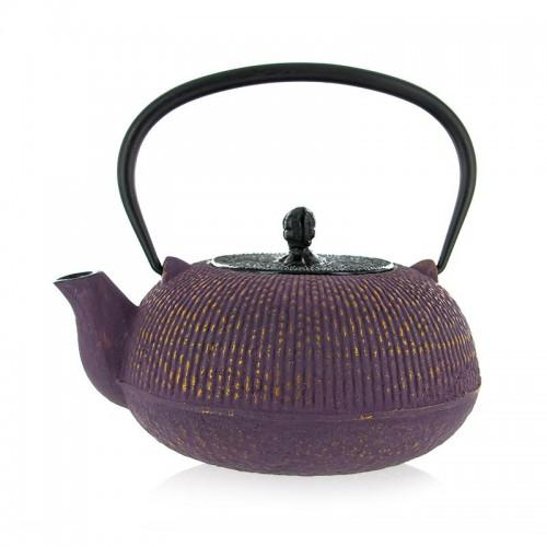 Japanese cast iron Teapot -Yuan - purple