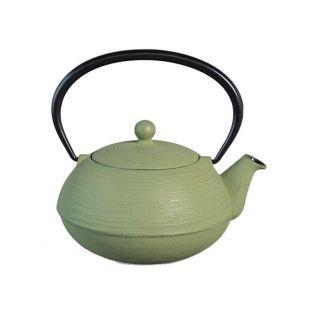 Théière en fonte japonaise - Ondine - vert d'eau & doré
