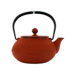 Japanese cast iron Teapot - Arare - carmine red