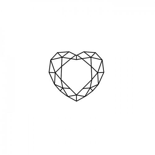 Wood stamp - Diamond Heart