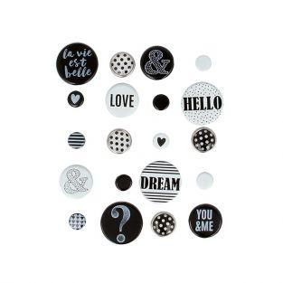 20 attaches parisiennes - noir & blanc