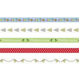 5 masking tapes - classic Christmas