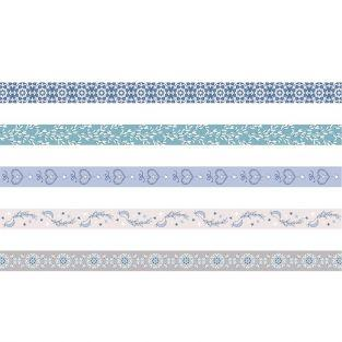 5 masking tapes - frosted Christmas