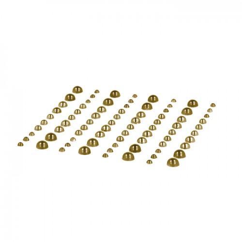 80 light golden adhesive beads